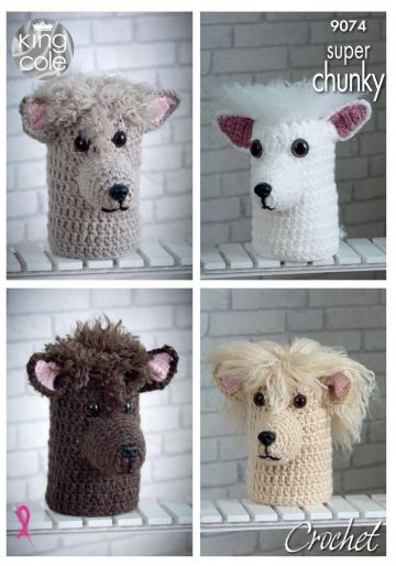King Cole Andre the Alpaca Toilet Roll / Doorstop  Crochet Pattern 9074